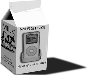Have you seen my iPod?